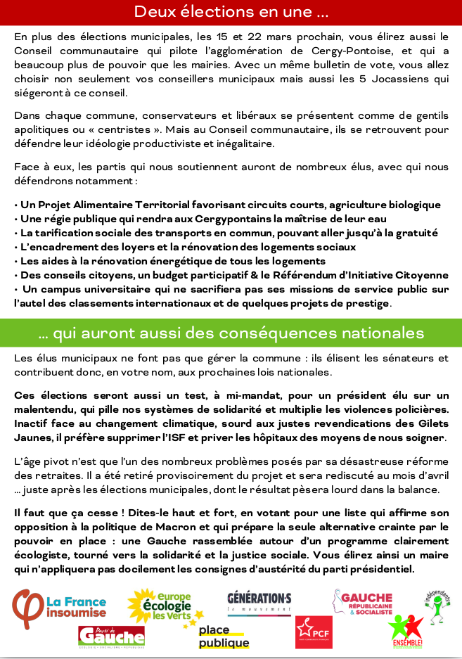 Tract agglomération